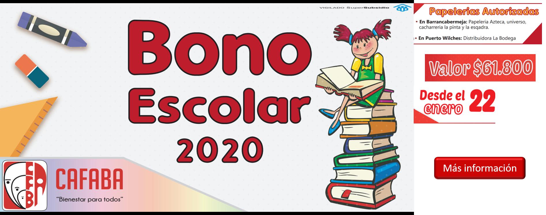 banner bono escolar