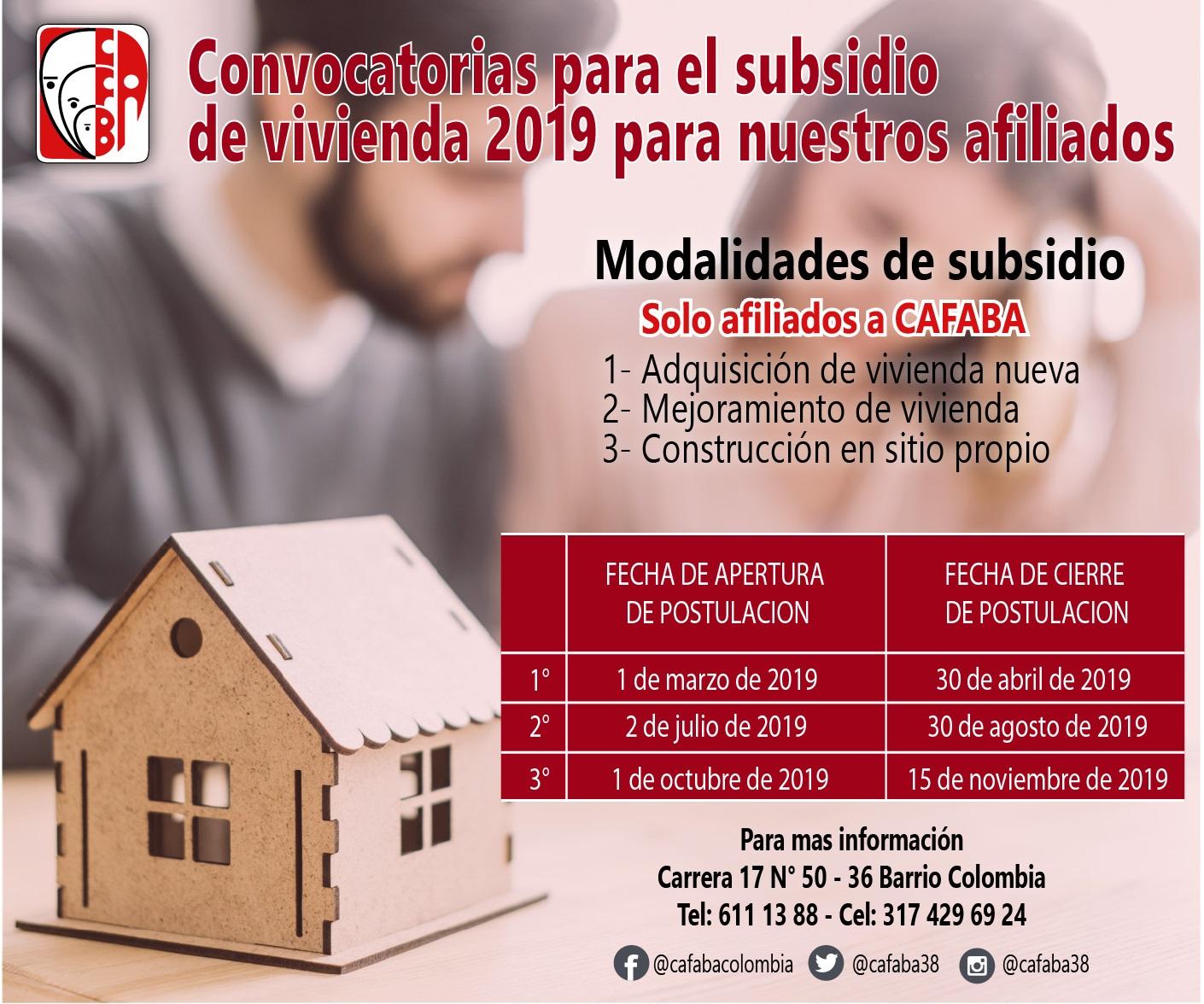 convocatorias subsidio